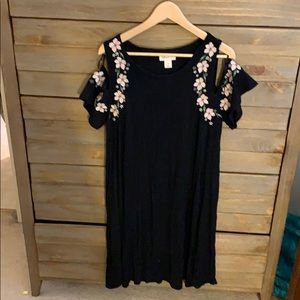 Black Cold Shoulder Dress 1X